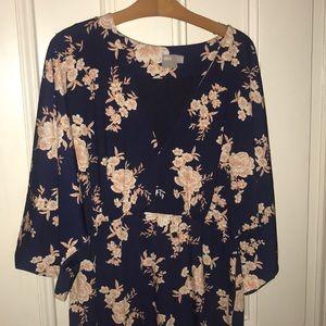 Kimono sleeve dress. Perfect for weddings!
